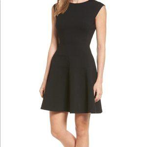 Halogen Black Fit and Flare Dress